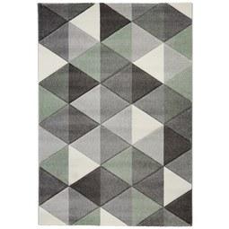 Webteppich Rom Grau/Grün 80x150cm - Grau/Grün, Textil (080/150cm) - Mömax modern living