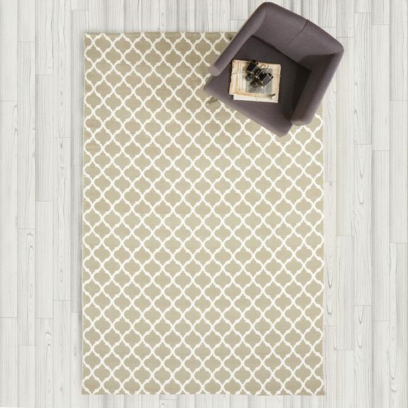 Handwebteppich Ornament 160x230 cm - Beige/Weiß, KONVENTIONELL, Textil (160/230cm) - MÖMAX modern living