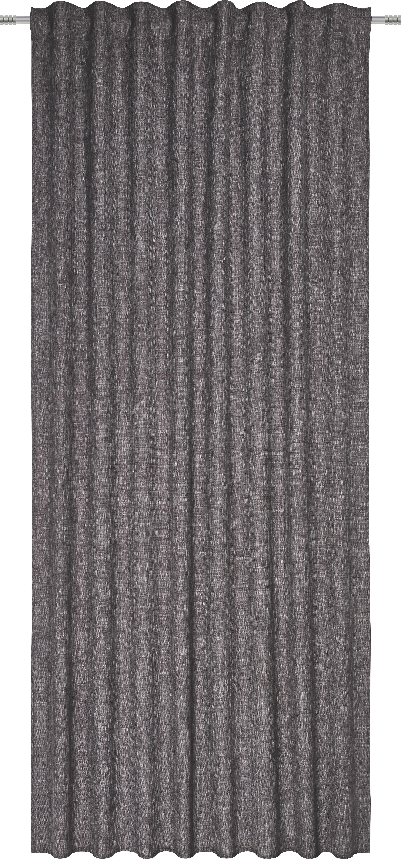 Fertigvorhang Leo in Grau, ca. 140x255cm - Grau, Textil (135/255cm) - PREMIUM LIVING