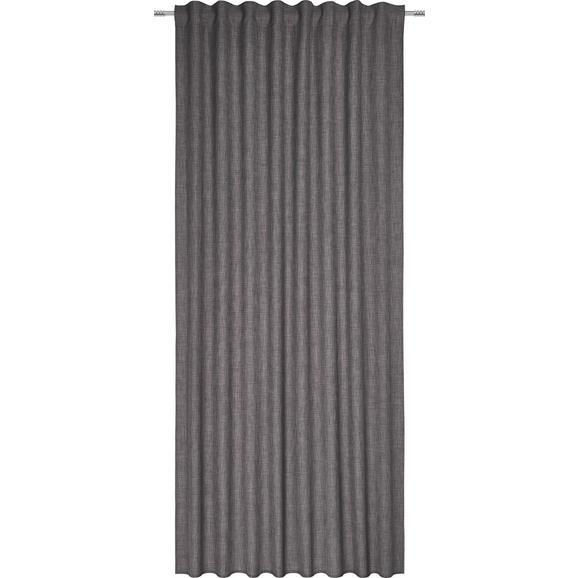 Končana Zavesa Leo -top- - siva, tekstil (135/255cm) - Premium Living