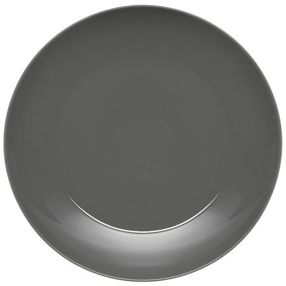 Speiseteller Sandy in Grau aus Keramik - Grau, KONVENTIONELL, Keramik (26,8/2,42cm) - Mömax modern living