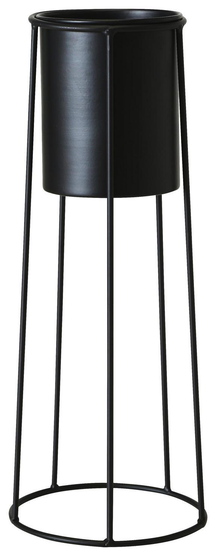 Pflanztopf Bila Schwarz 18x45 cm - Schwarz, Metall (18/45cm)