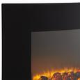 Elektrokamin Silva Schneider - Schwarz, MODERN, Glas/Kunststoff (66/46/14,1cm) - Silva Homeline