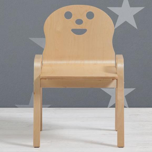 Kinderstuhl Sunny - Birkefarben, MODERN, Holz (34/59/39cm) - Bessagi Kids