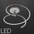 LED-Deckenleuchte max. 18 Watt 'Reggie' - Silberfarben, MODERN, Metall (35,5/34cm) - Bessagi Home