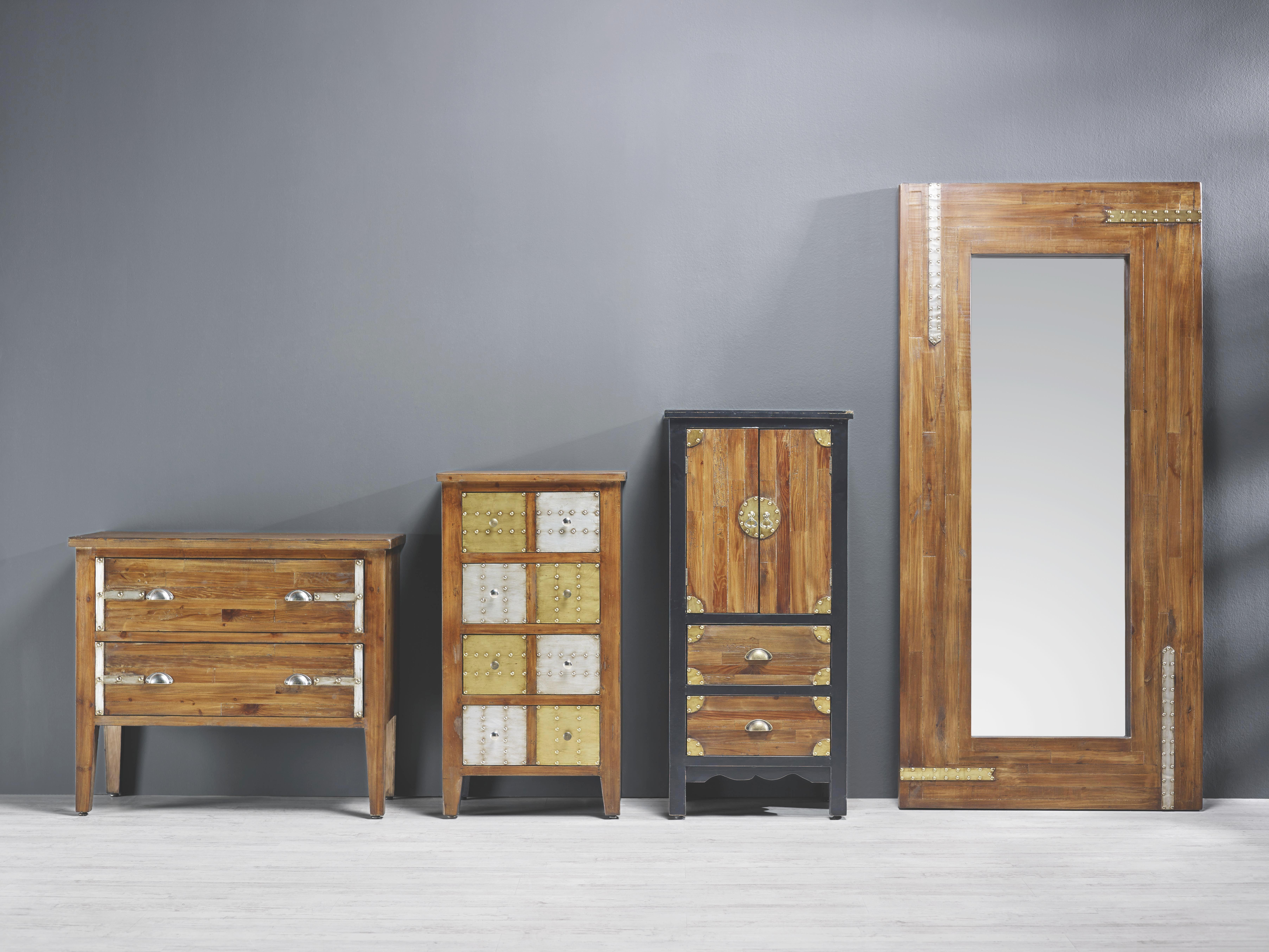 Wandspiegel Liam - Braun, KONVENTIONELL, Glas/Holzwerkstoff (90/190/5cm) - PREMIUM LIVING