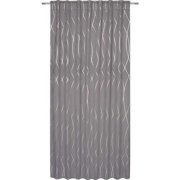 Zatemnitvena Zavesa Glamour - srebrna/antracit, Trendi, tekstil (140/245cm) - Mömax modern living