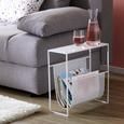 Beistelltisch aus Metall in Weiß - Weiß, MODERN, Metall (45/45/18cm) - Modern Living