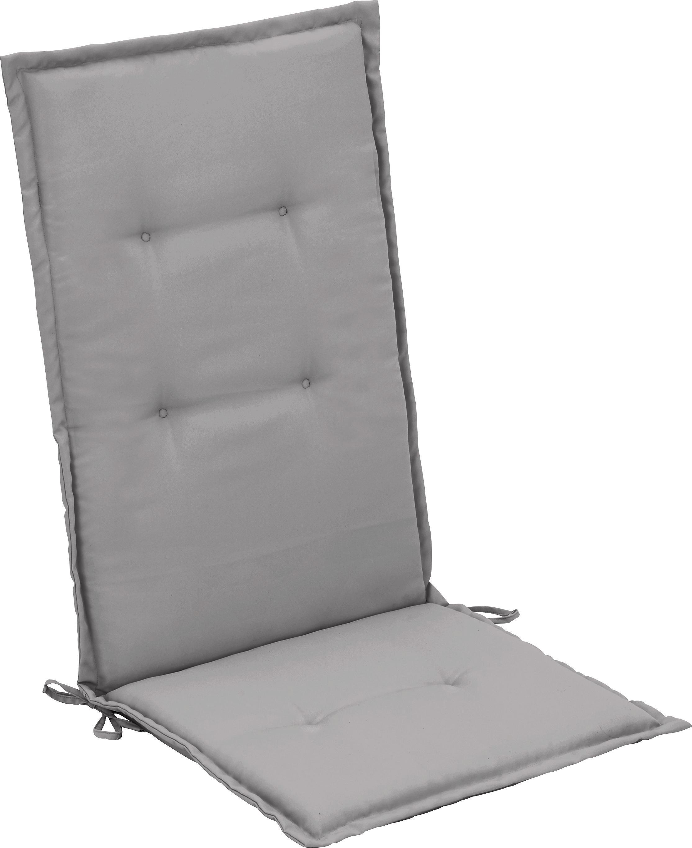 Sesselauflage Poppi in Hellgrau - Hellgrau, Textil (48/4/115cm) - MÖMAX modern living