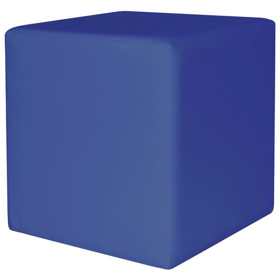 Tabure Colorfull Cube - modra/bež, Moderno, umetna masa/tekstil (40/40/42cm) - Mömax modern living