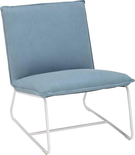 Lounge Naslanjač Roxy - modra, Moderno, kovina/tekstil (65/84/82cm) - Mömax modern living