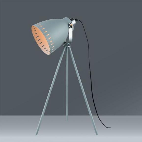 Tischleuchte Basti, max. 1x60 Watt - Grau, LIFESTYLE, Metall (24/65,5/cm) - Mömax modern living