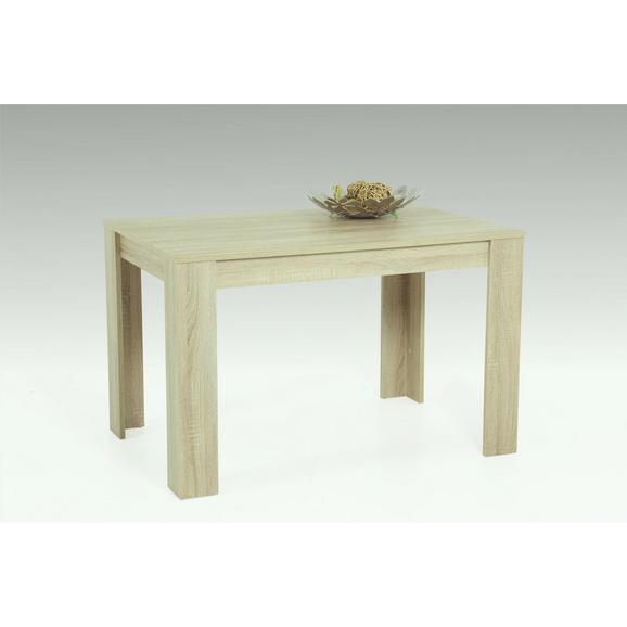 Étkezőasztal Doris T - Sonoma tölgy, Lifestyle, Faalapú anyag (120/76/80cm)