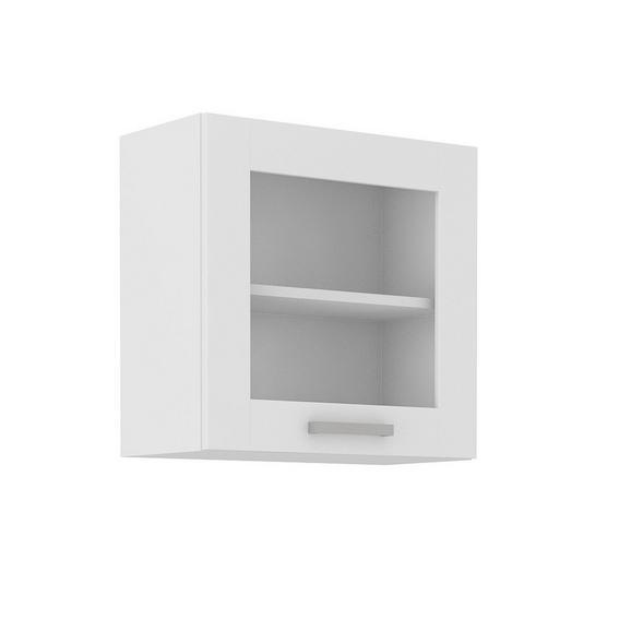 Dulap Suspendat De Bucătărie Luisa - alb, Konventionell, sticlă/compozit lemnos (60/58/31cm)