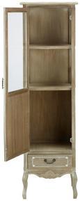 Vitrine Naturfarben - Klar/Schwarz, MODERN, Glas/Holz (48/162/35cm) - Mömax modern living