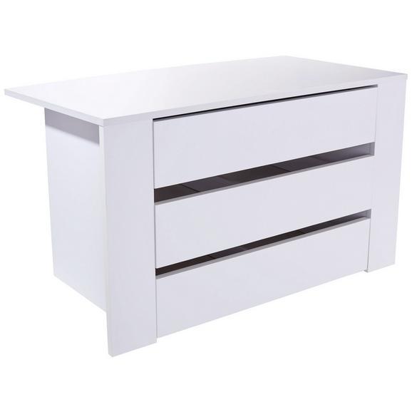 Anexă Cu Sertare Terra - alb, Modern, compozit lemnos (122,5/57/45cm)