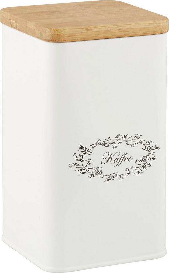 Box mit Deckel Lore in Weiß aus Echtholz - Weiß, ROMANTIK / LANDHAUS, Holz/Metall (11,5/11,5/19cm) - Zandiara
