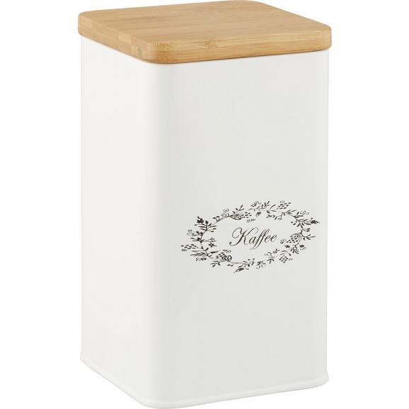 Box mit Deckel Lore Weiß Echtholz - Weiß, ROMANTIK / LANDHAUS, Holz/Metall (11,5/11,5/19cm) - Zandiara