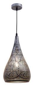 Viseča Svetilka Kairo - črna/srebrna, Trendi, kovina/umetna masa (22/146cm) - Mömax modern living
