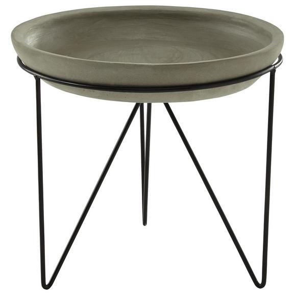 Okrasni Krožnik Noma - siva/črna, kovina/keramika (23,5/4cm)