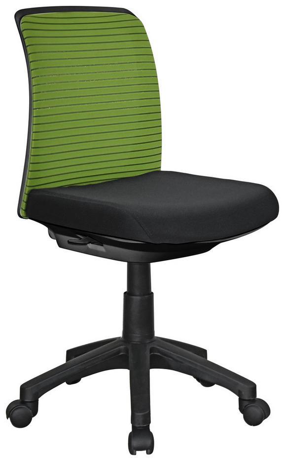 Vrtljivi Stol Mick - črna/zelena, kovina/umetna masa (45/81-91/55cm) - Mömax modern living