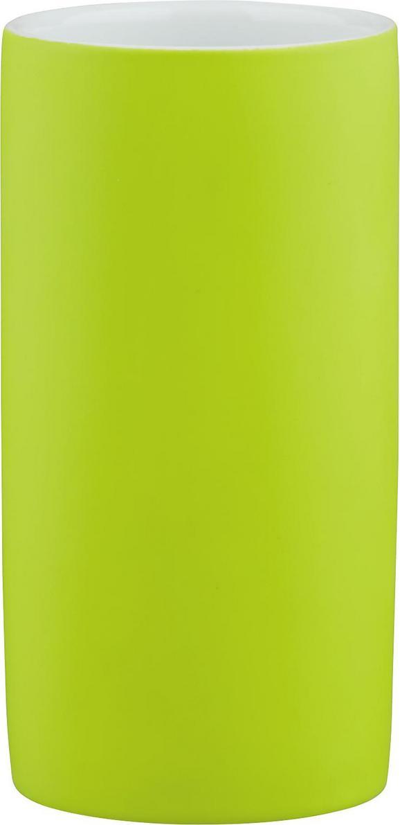 Zahnputzbecher Melanie in Grün aus Keramik - Grün, KONVENTIONELL, Keramik (6,5/12cm) - Mömax modern living