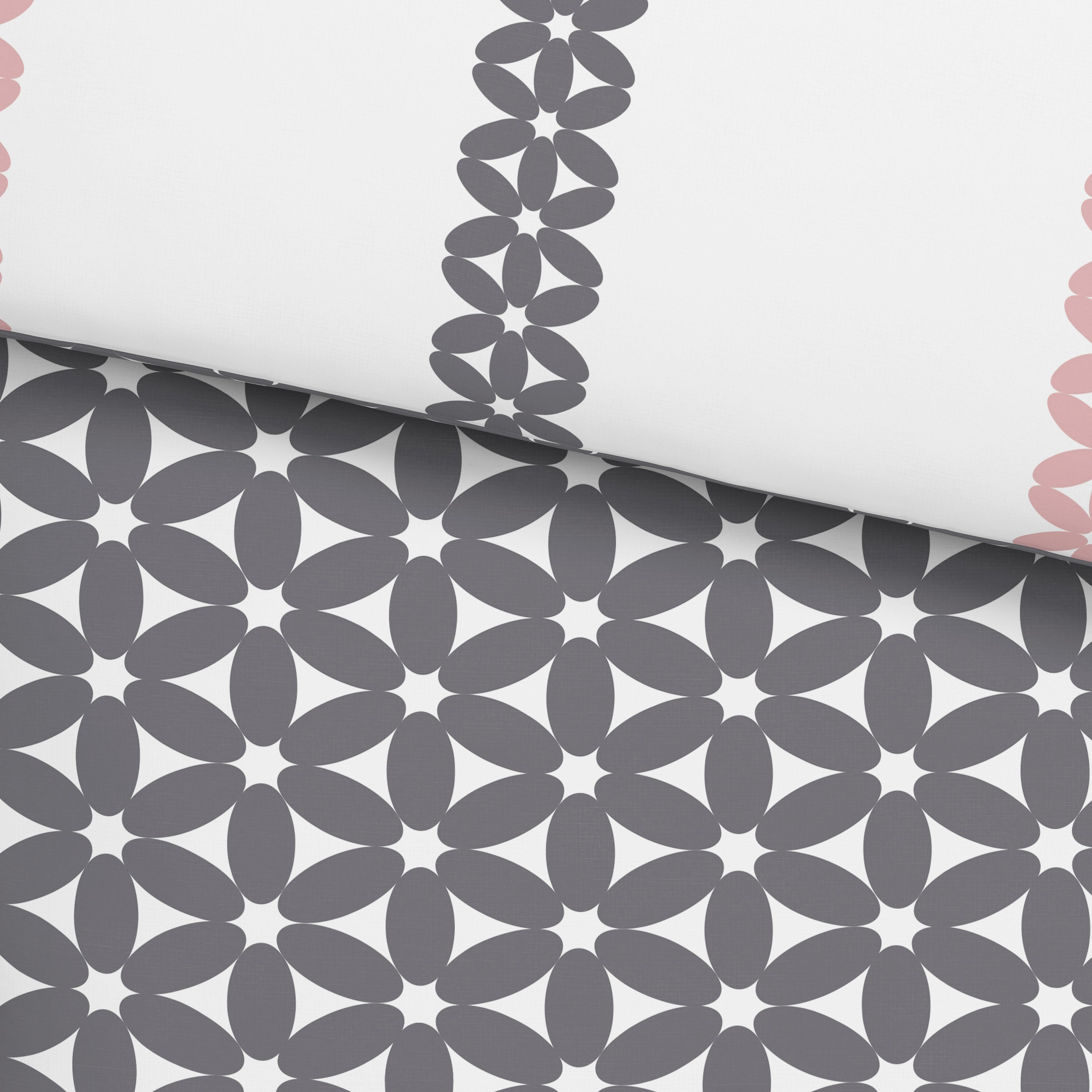 Bettwäsche Olivia Wende, ca. 140x200cm - Schwarz/Rosa, Textil (140/200cm) - MÖMAX modern living
