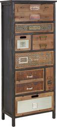 Kommode Naturfarben - Naturfarben, Holz/Metall (62/141/33cm) - Premium Living