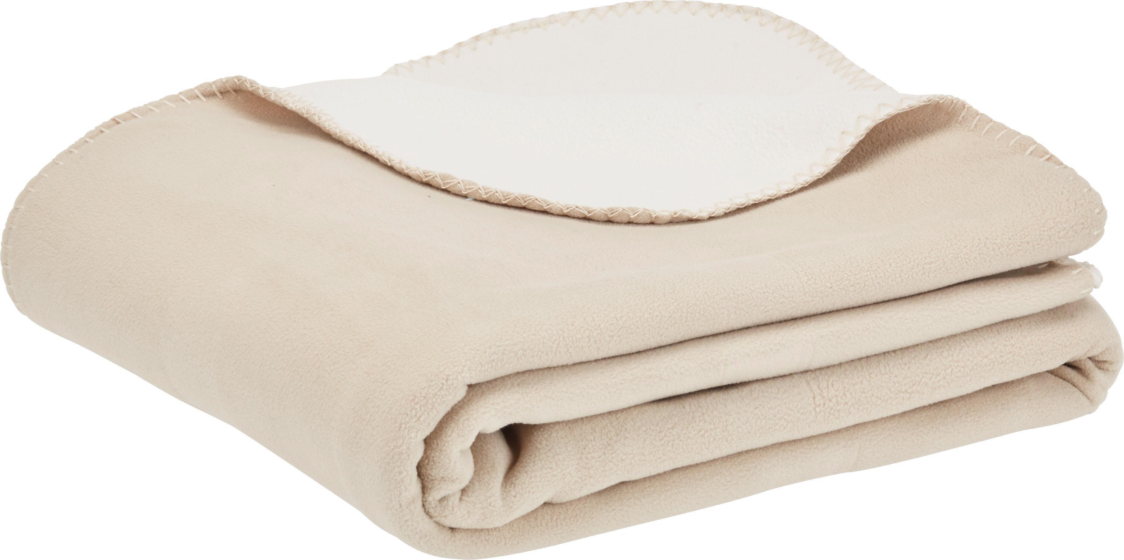 Fleecedecke Martin Wende in Beige/Weiß - Beige/Weiß, Textil (150/200cm) - MÖMAX modern living