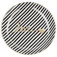 Farfurie Desert Gloria - alb/auriu, Modern, ceramică (20,5cm) - Modern Living