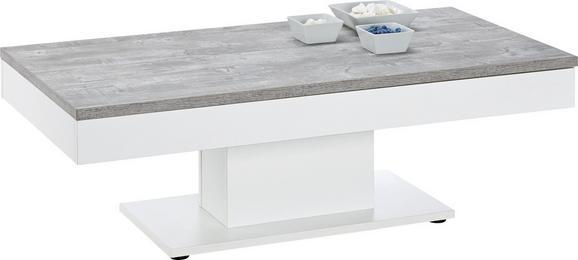 Klubska Mizica Granny - svetlo siva, Moderno, leseni material (120/42/60cm) - Mömax modern living