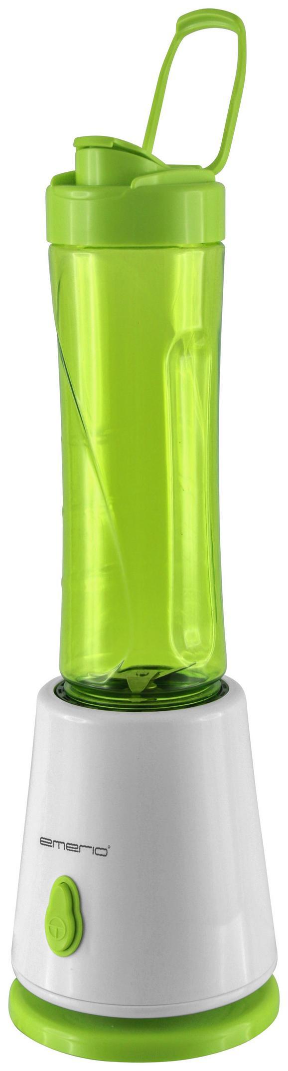 Smoothie Maker Rosi in Grün/Weiß - Weiß/Grün, Kunststoff/Metall (11,8/11,8/37,6cm)