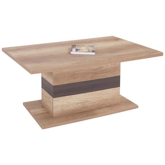 Klubska Miza Mali - hrast/temno rjava, Moderno, leseni material (110/49/67cm) - Mömax modern living