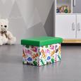 BOX in mulitcolor 'Dino' - Multicolor, MODERN, Textil (25/25/40cm) - Bessagi Home