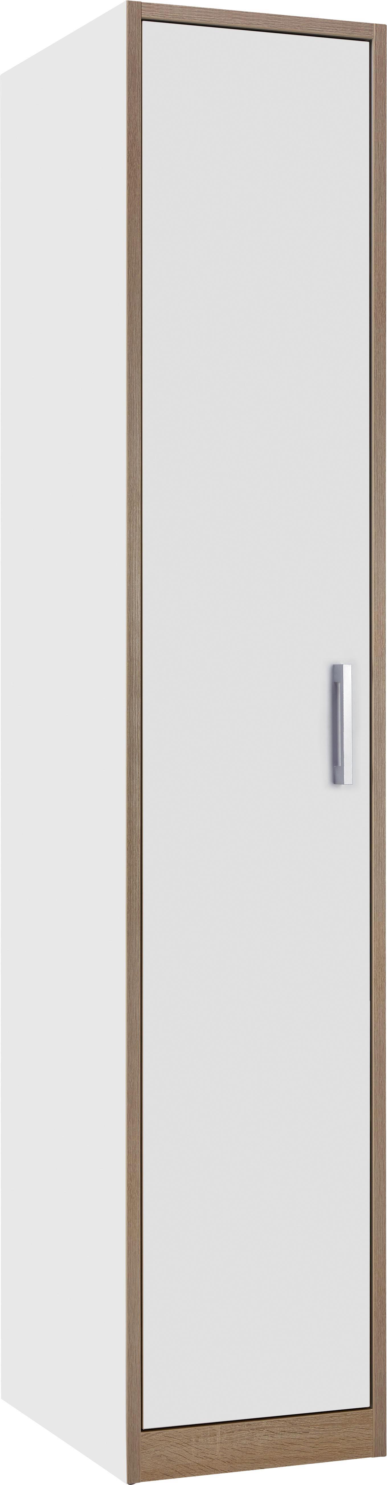 Schrank in Weiß/Eiche - Eichefarben/Weiß, KONVENTIONELL, Holzwerkstoff/Kunststoff (40/205/55cm) - MODERN LIVING