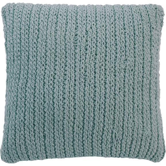 Kissen in Mint 'Esra' ca. 45x45cm - Mintgrün, MODERN, Textil (45/45cm) - Bessagi Home