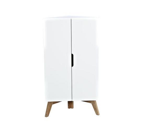 Eckkommode Weiß - Walnussfarben/Weiß, MODERN, Holz/Holzwerkstoff (60/110/34cm) - Mömax modern living