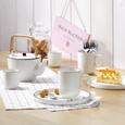Dessertteller Agnes aus Keramik in Weiß - Weiß, Keramik (20cm) - Premium Living