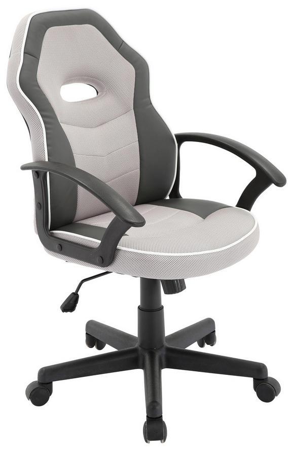 Drehstuhl Grau/Weiß - Schwarz/Weiß, MODERN, Kunststoff/Textil (56,5/95-105/61cm) - Mömax modern living
