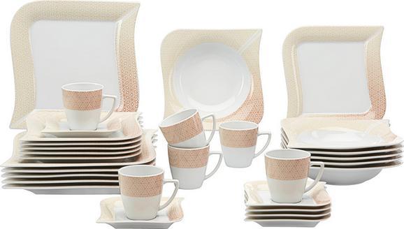 Kombinirani Servis Lago - svetlo rjava/bela, Konvencionalno, keramika (36/33/28,5cm) - Mömax modern living