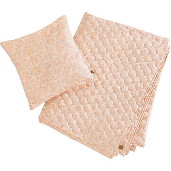 Decke + Kissen in Rosa ca. 140x220 cm 'Aida' - Rosa, MODERN, Textil (140/220cm) - Bessagi Home