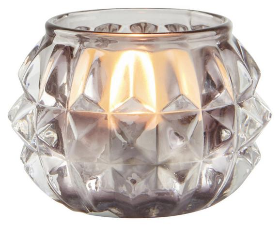 Teelichthalter Ayleen - Grau, MODERN, Glas (7,4/4,8cm) - MÖMAX modern living
