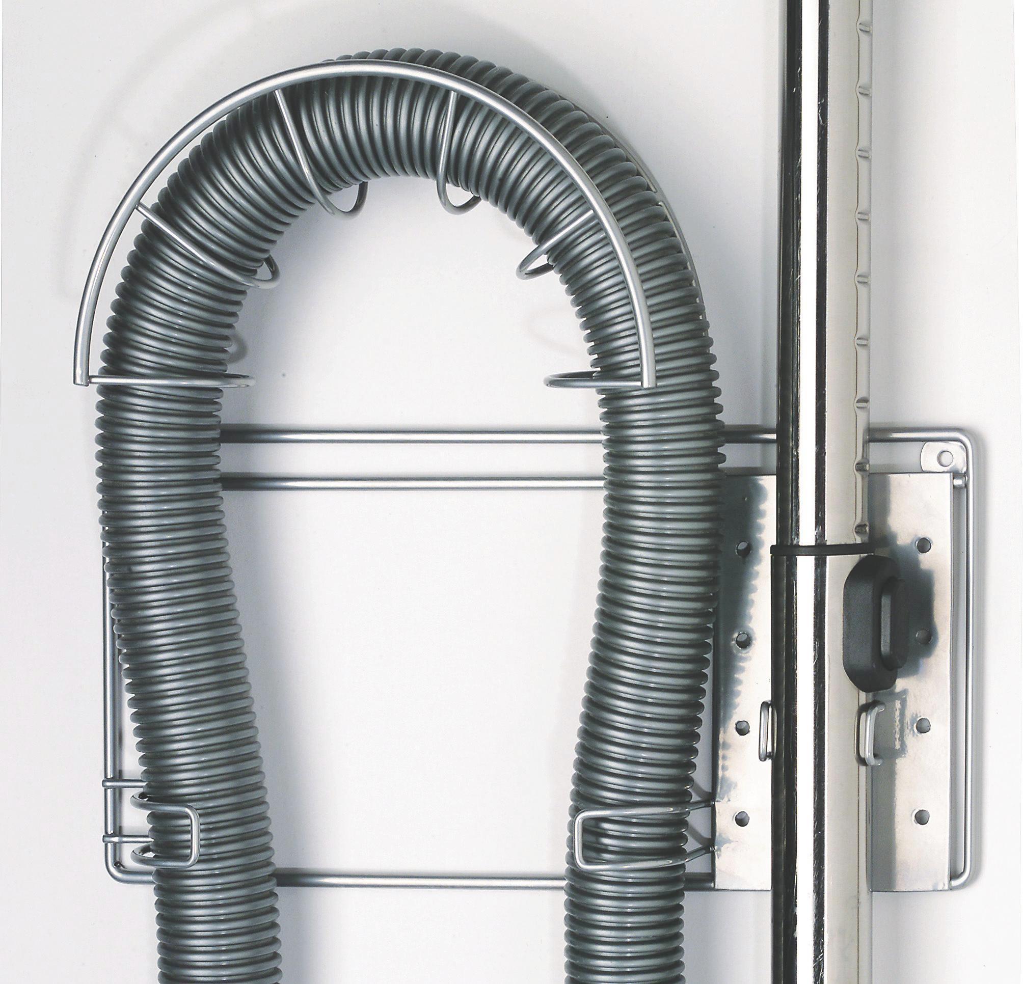 Porszívócső Tartó Praktik    -sb- - ezüst színű, modern, fém (32/28cm)