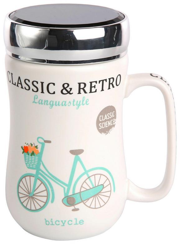 Lonček Bicycle - večbarvno, kovina/keramika (0,4l)