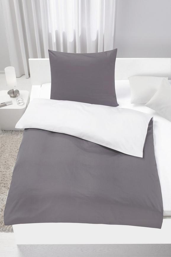 Bettwäsche Belinda ca. 155x220cm - Anthrazit/Hellgrau, Textil (155/220cm) - Premium Living