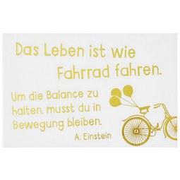 Kühlschrankmagnet mit Spruch - Goldfarben/Weiß, MODERN, Metall (8,5/5,5cm)