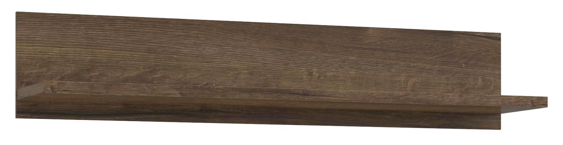 Falipolc Lacjum - tölgy színű, modern, faanyagok (150/29,6/31,1cm)