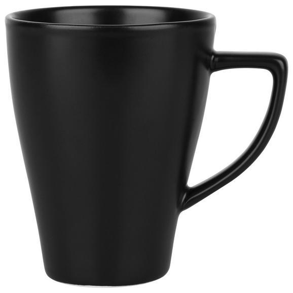 Kaffeebecher Nele aus Steinzeug in Schwarz - Schwarz, MODERN, Keramik (8,5/11cm) - Premium Living
