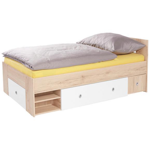 Postelja 90x200 Cm Azurro 90 - svetlo rjava/bela, Moderno, leseni material (204/75/95cm) - Mömax modern living