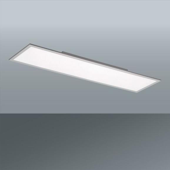 Stropna Led-svetilka Flat - bela, Moderno, kovina/umetna masa (120/30/5cm)